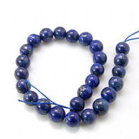 8mm Round Natural Lapis Lazuli Beads
